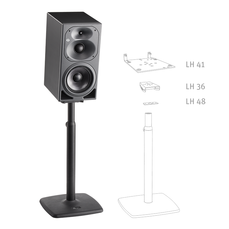 Product detail x2 desktop kh 420 on a km monitor stand 2 neumann m